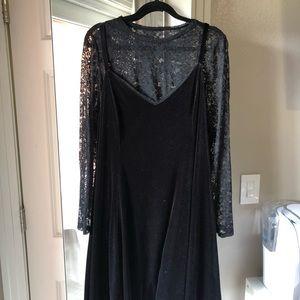 Torrid velvet swing dress